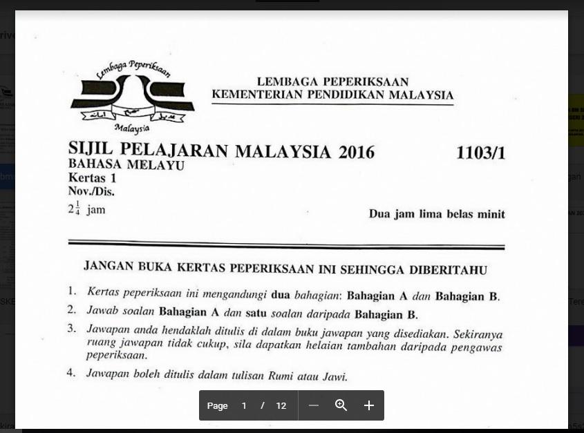 Bahasa Melayu Spm